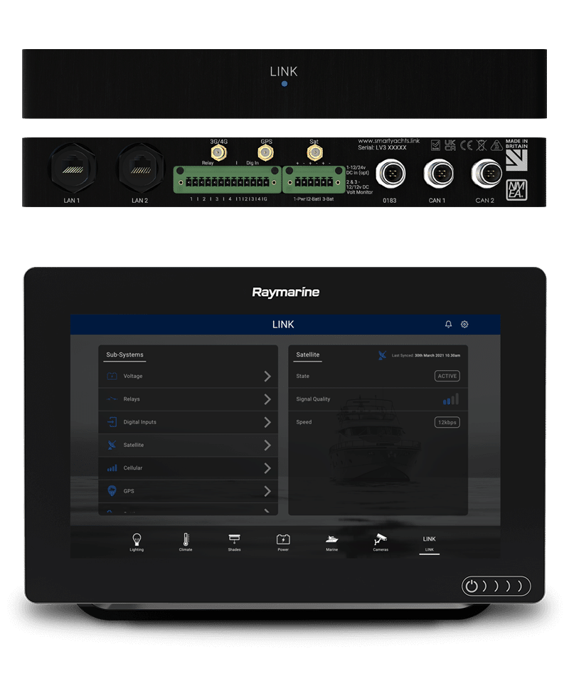 LINKbridge hardware and management interface on MFD screen